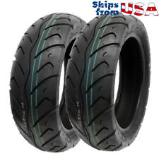 TIRE SET: Front Tire 120/70-12 Rear Tire 130/70-12 Street Tread fits on Scooter