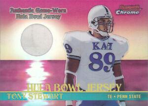 2001 Bowman Chrome Rookie Relic #BCRTS Tony Stewart Jersey Hula Bowl