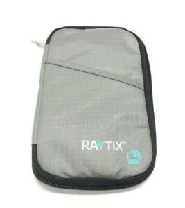 Raytix RFID Chip Protection Wallet Passport Holder Travel Bag Gray