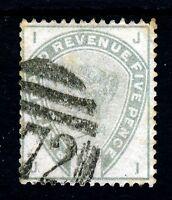 GB QV 1884 5d. Green from the Lilac & Green Set SG 193 (Spec K23) VFU