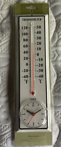 outdoor/indoor clock and thermometer Brand New