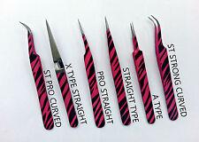 Eyelashes Extensions Nippers Nail Art Picking Rhinestones Tweezers Tool Set of 6