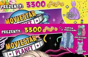 Moviestar Planet 2 digital game codes :1Hair&jacket+1dress for special ocassions