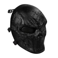 Full Face Mask Protection Outdoor Airsoft With Metal Mesh Eye Protection Black