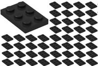 ☀️50x NEW LEGO 2x3 BLACK Plates # 3021 BULK Parts City Star wars