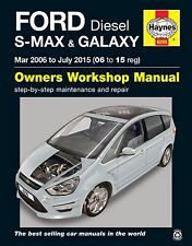 Ford S-Max Galaxy 1.6 1.8 2.0 2.2 Diesel 2006 de marzo - 6299 de Julio de 2015 Haynes Manual