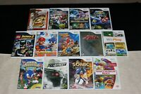 Nintendo Wii Games (Mario, Zelda, Pokemon, Sonic...etc)  -  Tested
