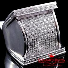 MEN'S NEW BIG BOLD 10K WHITE GOLD .75CT GENUINE REAL DIAMOND PINKY RING BAND