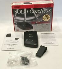 Escort Solo Cordless Radar and Laser Detector  Complete Works Open Box