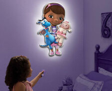 Licensed Disney Doc McStuffins Talking Wall Friends Remote Control Night Light