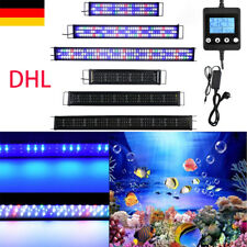 LED Aquarium Beleuchtung Aufsetzleuchte 30-180cm Lampe Weiß+Blau Vollspektrum