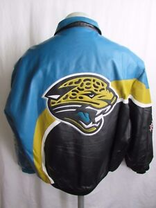 Jacksonville Jaguars NFL Jeff Hamilton Men's Vintage Authentic Leather Jacket