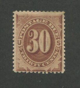1879 United States Postage Due Stamp #J6 Mint Hinged VF Original Gum Certified
