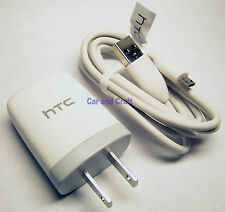 Genuine HTC US Charger Adapter+USB Cable Desire ONE Original PSM05C-050 TC-U250