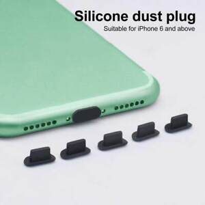 5pcs Dustproof Charger Plug USB Port Anti-dust iPHONE 5S 6 6s 7 8 X XR XS 11 12