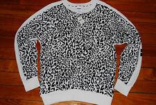 Victoria's Secret VS PINK Snow Leopard Pullover Sweatshirt (Small)