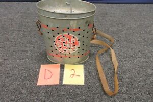 Antique Old Pal Minnow Live Bait Bucket Metal Tin Vintage Fishing Gear