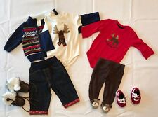 Gymboree Outfits Boy , 2 Pair Of Shoes , Sweater And Jacket, Socks 3-6 Months.
