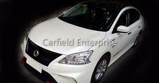 12-17 Nissan Sentra 3rd B17 Sylphy Pulsar Front Chrome Black Radiator Grill Mesh