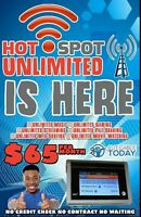 Att Truly Unlimited 4G LTE Data Hotspot Plan $65 a Month ( No Credit Checks )