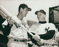 Ted Williams Gives Pointers to Mickey Mantle High Quality 11x14 Archival Photo