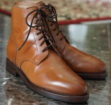 RIDER BOOT CO US 8 DUNDALK NATURAL SHELL CORDOVAN PLAIN TOE ALDEN BAGS WIDE
