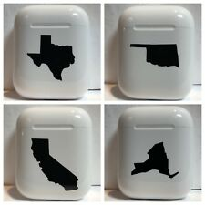 Apple AirPod State Decal Sticker Skin Wrap Vinyl ANY STATE ANY COLOR