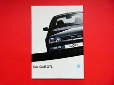 Prospekt / Katalog / Brochure VW Golf III (3) GTI und GTI 16V  08/92