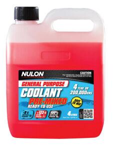 Nulon General Purpose Coolant Premix - Red GPPR-4 fits Holden Viva 1.8 i (JF)