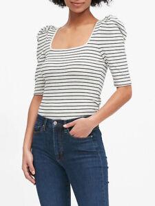BANANA REPUBLIC Square Neck Puff Sleeve T-Shirts #53807-9