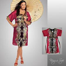 Kleid *** Freizeitkleid / Satinkleid / Kimonoform SATIN - glänzend Gr.44 NEU