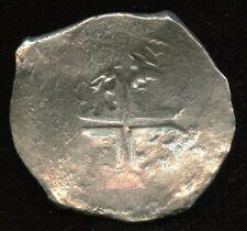 """Circa 1641 Mexico Silver 8 Reales Cob Coin """"P"""" Assayer GRADE INVESTMENT XF Grade"""