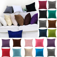 40x40cm Square Suede Back Cushion Cover Throw Pillow Case Home Car Sofa Decor