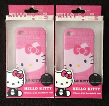 *LOT OF 2 NEW* HELLO KITTY HARDSHELL Snap On PHONE CASE COVER For iPHONE 4 & 4S