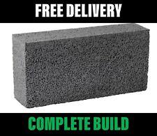 Solid Concrete Blocks 440mmx215mmx100mm 7.3N 100mm - FREE Crane Delivery