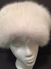 Fox Fur Cossack Hat by Dena Furs White M /L Zhivago Style Finland
