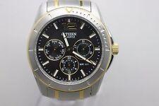 NOS Original Citizen Quartz Two Tone 1N1020037 Wristwatch Men's Watch Running