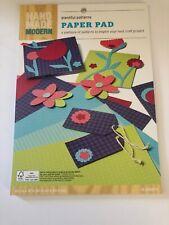 "Hand Made Modern Plentiful Patterns Paper Pad 8.5""×12"" 12 red green Purple Pink"