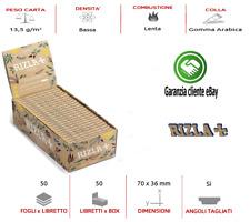 Cartine Rizla Natura Corte Sigarette  SINGOLE  Scatola Da 25/ 50/ 100 LIBRETTI