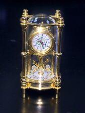 RARE Bulova Royal Doulton Miniature Musical Clock Plays Brahm's Lullaby