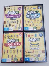The Sims 2 Stuff Pack Bulk Lot of 4 Games Glamour Celebration Ikea Fashion