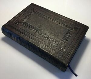 Antique Polyglot Bible, English Version, References And Maps, Leather Hardback