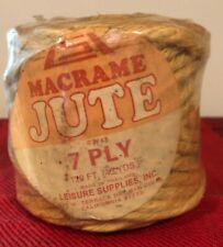 New Old Stock Macrame Jute 7 Ply 43 Yds Natural Color L 00006000 eisure Supplies Lsi