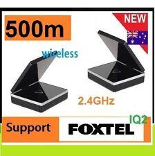 New 2.4GHz Wireless AV Sender Transmitter 500 range IR remote For FOXTEL IQ2 *
