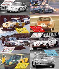 Calcas Porsche 911S Le Mans 1971 40 41 42 43 48 1:32 1:24 1:43 1:18 911 decals