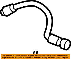 FORD OEM Rear Brake-Hydraulic Flex Hose 7E5Z2A442A