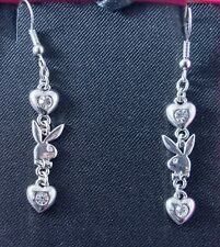 Jewellery Valentines Gift New Playboy Bunny Drop Earrings