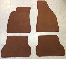 Autoteppiche Fußmatten für Audi Typ 85 Ur-quattro Cognac Velours neu 4teilig