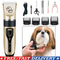 Electric Pet Dog Cat Grooming Clippers Hair Trimmer Groomer Shaver Razor Set