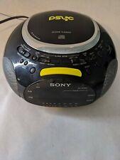 Sony Dream Machine Psyc ICF-CD832 CD Player AM FM Dual Alarm Clock Radio Blue